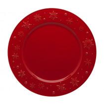 Плато Snow Flakes Red, Bordallo Pinheiro, Ø 34 см