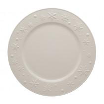 Плато Snow Flakes Beige, Bordallo Pinheiro, керамично, Ø 34 см
