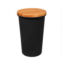 Кутия за съхранение Capventure Carbon black, 750 мл, бамбук