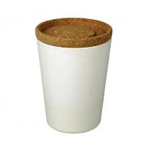 Кутия за съхранение Capventure Store & Stack Coconut white, 1 л, бамбук