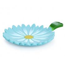 Подложка за пликчета чай и лъжици Charles Viancin Daisy Aqua, силиконова, Ø 10 см