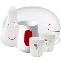 Сервиз за кафе Kahla Five Senses Red, порцелан, 5 части