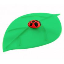 Предпазен капак за чаши Lurch Leaf Ladybug, силиконов, 12.5 см
