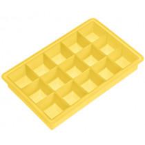 Форма за лед Lurch Ice Cube Corn yellow, силиконова, 15 гнезда, 3 х 3 см