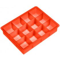 Форма за лед Lurch Ice Cube Pumpkin orange, силиконова, 12 гнезда, 4 x 4 см
