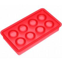 Форма за лед Lurch Ice Spheres Red, силиконова, 8 гнезда, Ø 3.3 см